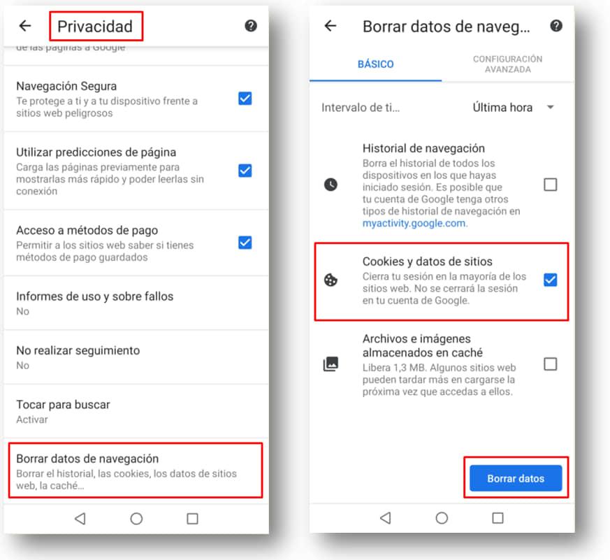Eliminar-cookies-app cfe contigo android