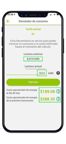 simulador-de consumo app cfe-contigo